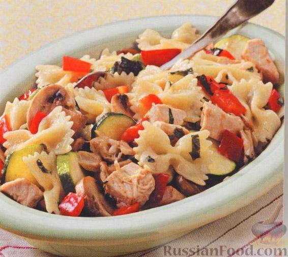 """Рецепт """"Таксидо"""" с курицей, грибами и овощами"""