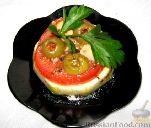 Рецепт Пикантные помидоры с чесноком