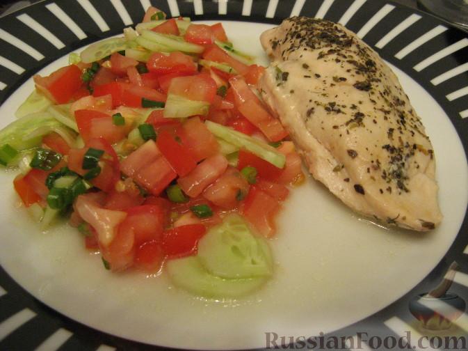 Рецепт Куриная грудка, фаршированная зеленью и моцареллой