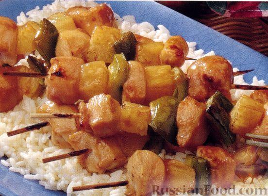 Рецепт Куриный кебаб под сливовым соусом