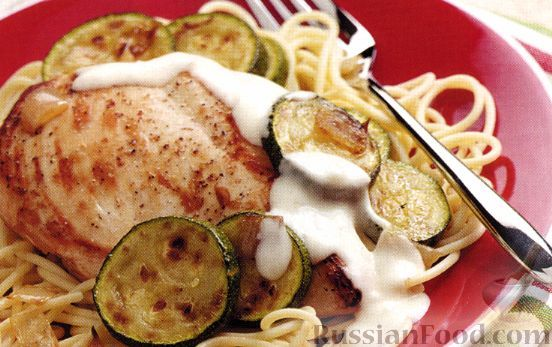 Рецепт Курица под чесночным соусом