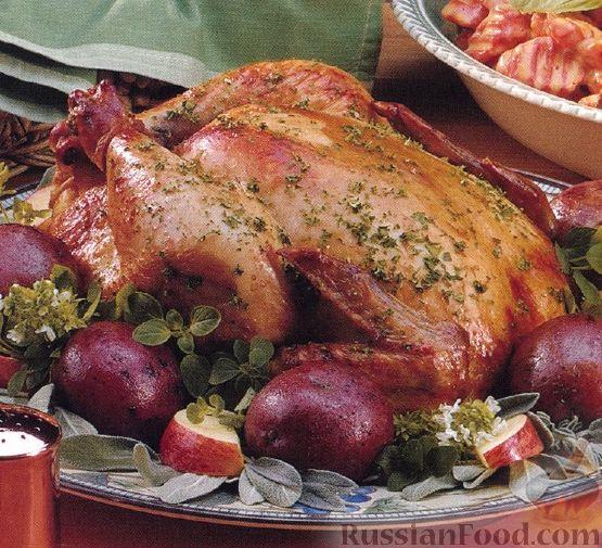 Рецепт Курица, жаренная по-деревенски