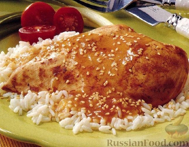 Рецепт Курица с кунжутом