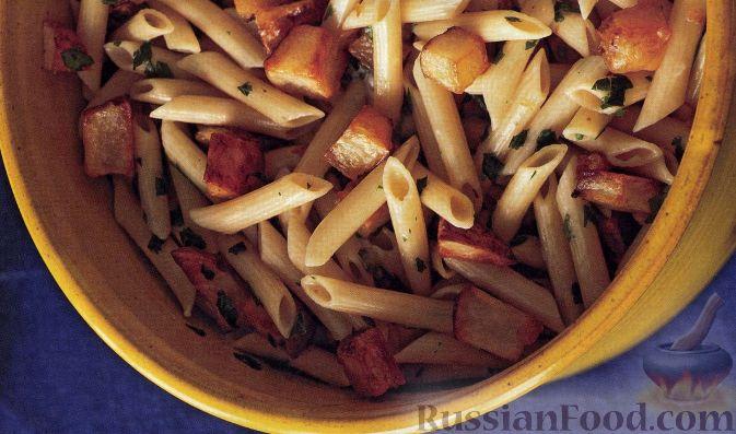 Рецепт Макароны с жареной картошкой