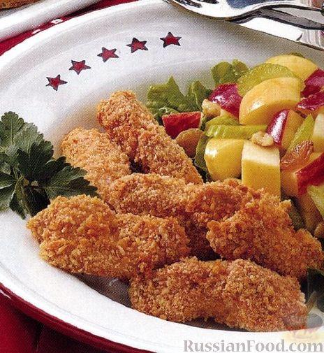 Рецепт Куриные кусочки с кунжутом