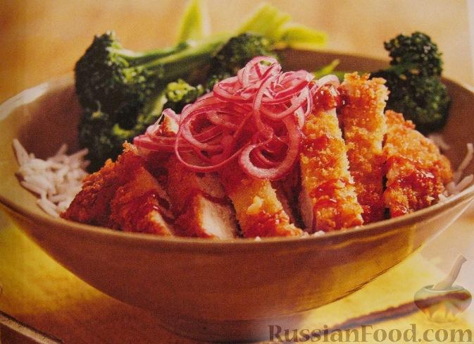 Рецепт Кисло-сладкая свинина с рисом