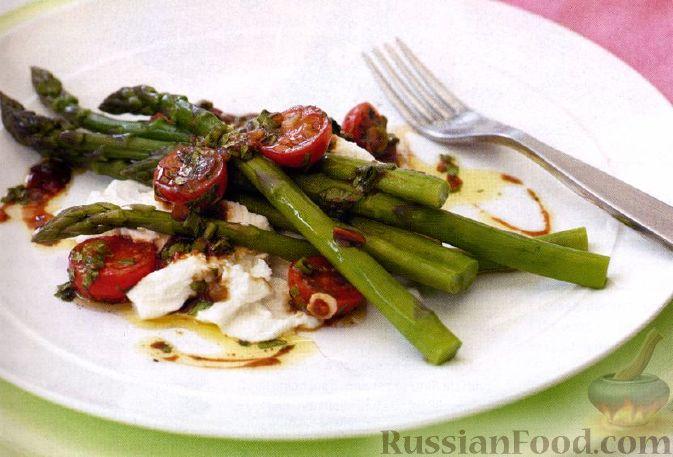 Рецепт Рождественский салат со спаржей