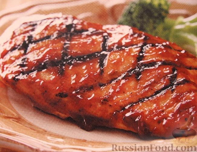 Рецепт Куриное филе, жареное на гриле