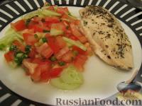 Фото к рецепту: Куриная грудка, фаршированная зеленью и моцареллой
