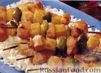 Фото к рецепту: Куриный кебаб под сливовым соусом