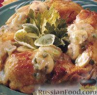 Фото к рецепту: Курица под грибным соусом