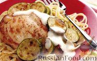 Фото к рецепту: Курица под чесночным соусом