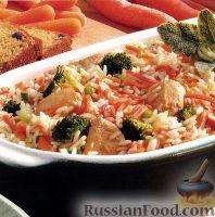 Фото к рецепту: Курица с рисом и морковью