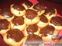 Фото к рецепту: Профитроли (заварные пирожные)
