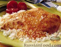 Фото к рецепту: Курица с кунжутом