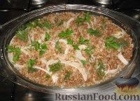 Фото к рецепту: Индюшиное филе с гречкой