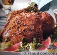 Фото к рецепту: Курица с грейпфрутом и розмарином