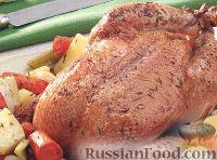 Фото к рецепту: Жареная курица с овощами