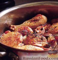 Фото к рецепту: Куриные ножки тушеные