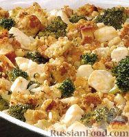 Фото к рецепту: Курятина с брокколи и сухариками