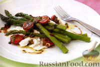 Фото к рецепту: Рождественский салат со спаржей