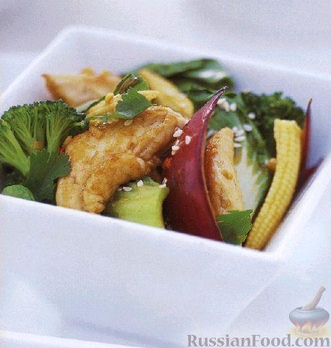 Рецепт Куриное филе, жаренное с овощами