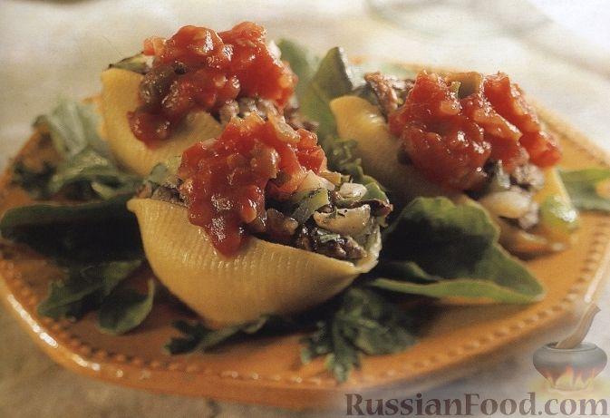 Рецепт Макароны, фаршированные мясом и овощами