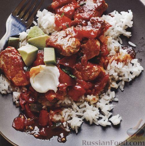 Рецепт Жареная свинина с рисом