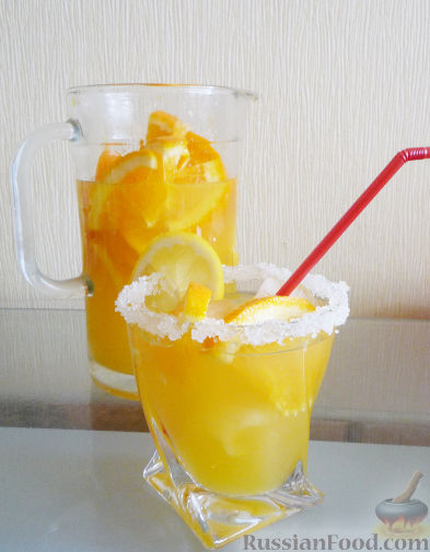 Рецепт Апельсиновый лимонад / Безалкогольный крюшон