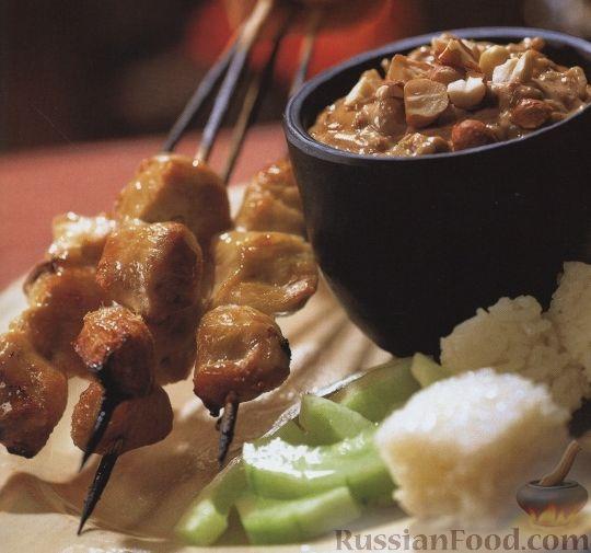 Рецепт Куриные шашлыки с пикантной заправкой