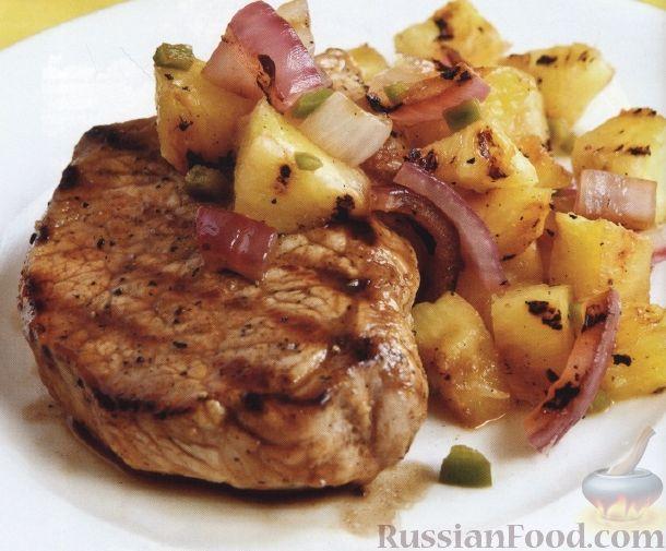 Рецепт Свиные стейки с ананасовой сальсой