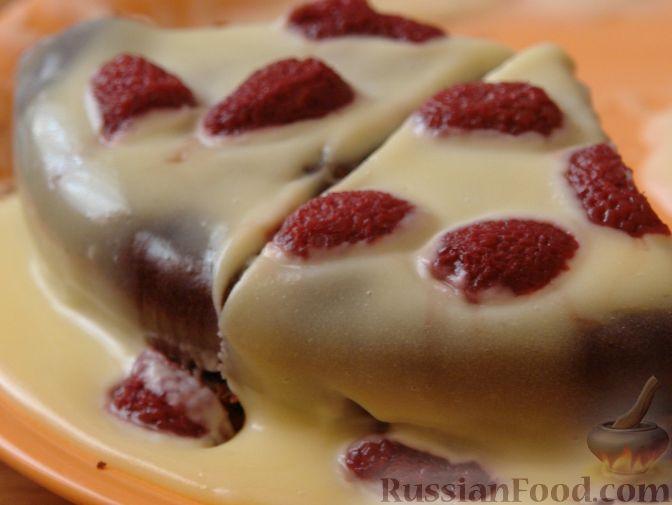 """Рецепт Бисквит """"Шоколад на кипятке"""" с заварным кремом"""