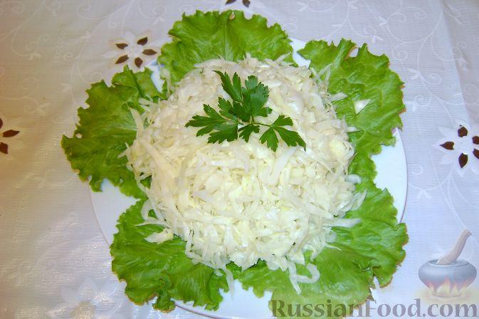 Салат из капусты с кипятком