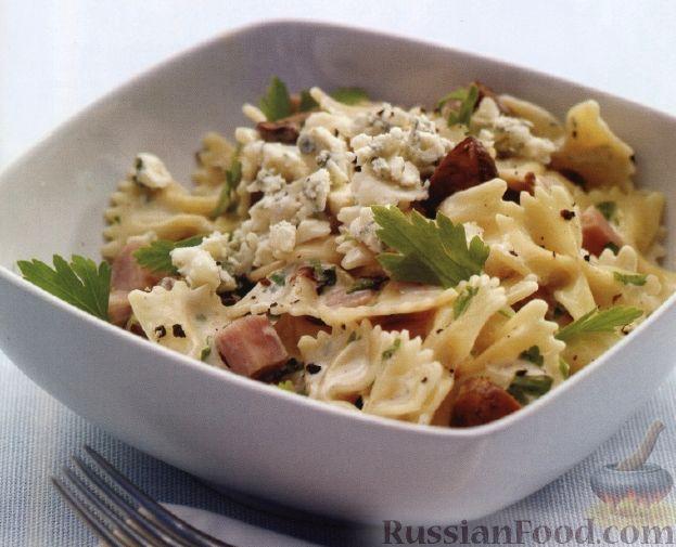 Рецепт Макароны с сыром и ветчиной