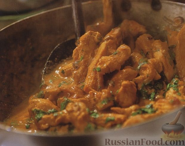 Рецепт Куриное филе под соусом карри