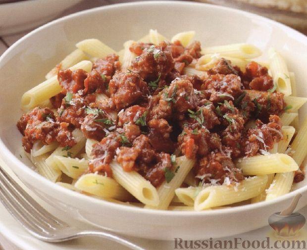 Рецепт Макароны с итальянскими колбасками