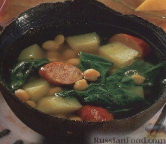 Рецепт Гороховый суп с салями