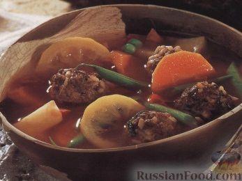 Рецепт Овощной суп с тефтелями