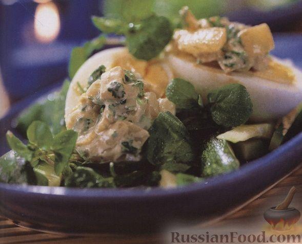 Рецепт Салат с яйцами и пастой карри