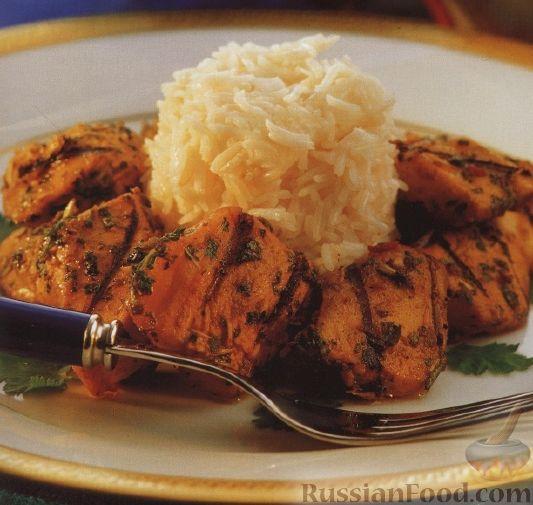 Рецепт Куриное филе в ароматном маринаде, жаренное под грилем