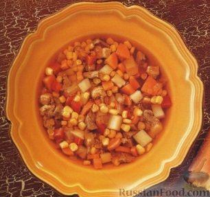 Рецепт Мясной суп с кукурузой