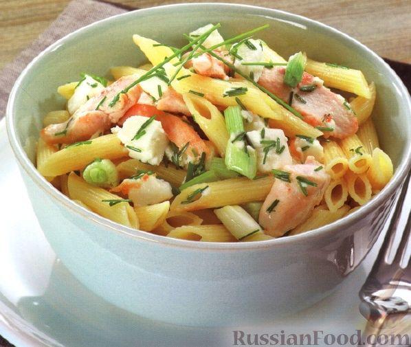 Рецепт Макароны с куриным филе и сыром фета