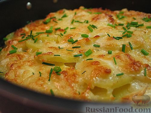 картошка в духовке с майонезом и чесноком с сыром рецепт с фото