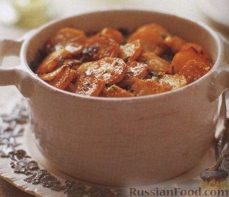 Рецепт Тефтели с картофелем, запеченные в духовке