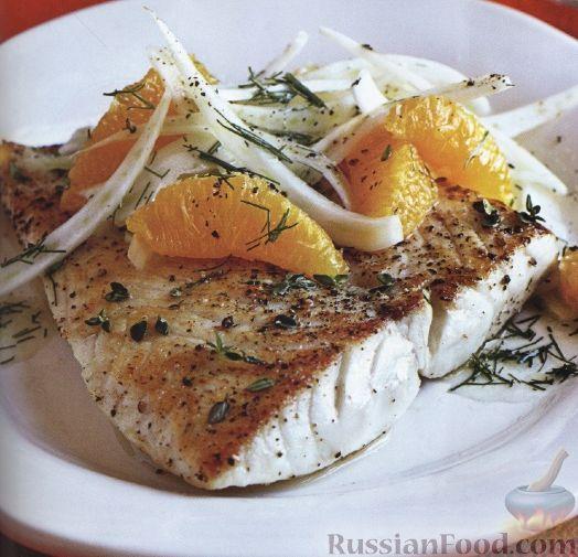 Рецепт Жареная рыба с салатом из фенхеля