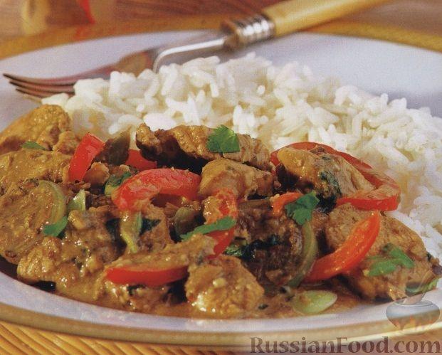 Рецепт Куриное филе с соусом карри