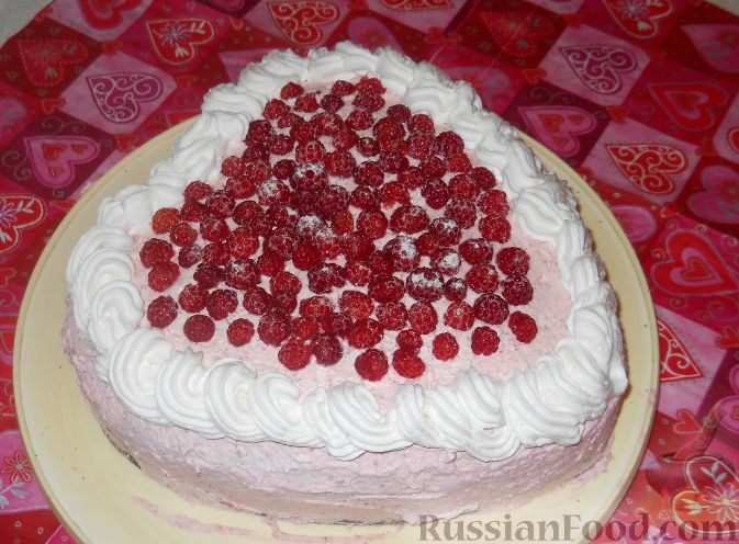 "Рецепт Торт ""Малиновое сердце"""