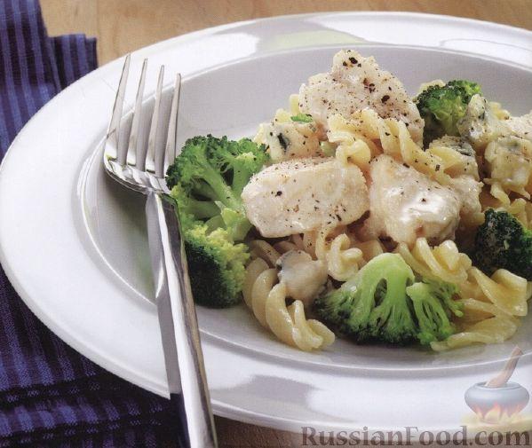 Рецепт Макароны с рыбой и брокколи