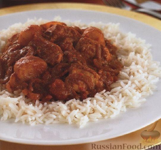 Рецепт Куриное филе, тушенное в томатном соусе