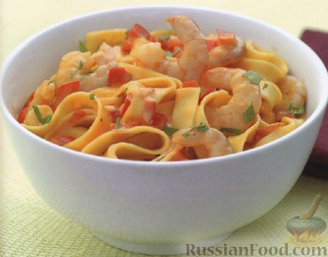 Рецепт Тальятелле с креветками